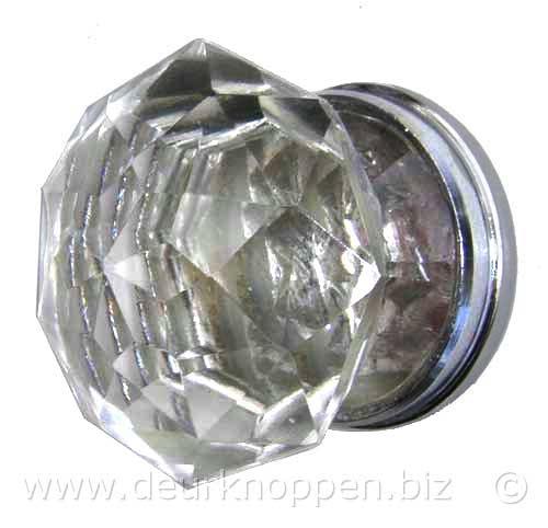 glazen deurknop diamant, glazen kastknoppen en grepen