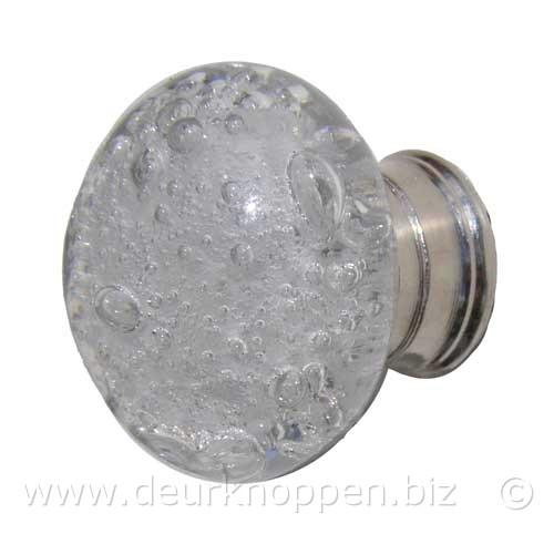 Deurknop ladeknop glas bubbels glazen deurbeslag en grepen - Metaal schorsing en glazen ...